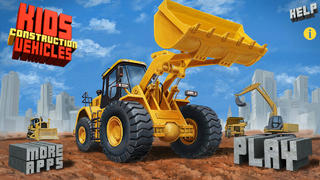 Kids Vehicles: Construction للايفون (excavator, bulldozer, loader & more)