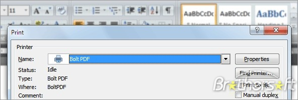 Bolt PDF Printer Free